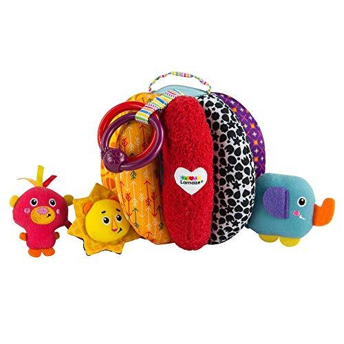 Lamaze Baby Spielzeug Greif- & Versteckball, das hochwertige Kleinkindspielzeug. Das quietschbunte Motorikspielzeug stimuliert die Sinne und fördert die Grob- und Feinmotorik. Ab 6 Monaten