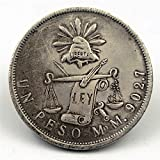 WLG 1872,Mexico,Antique,Silver,Coins,Collectibles,Fine,Artwork,2Pcs Gift/A / 2pcs
