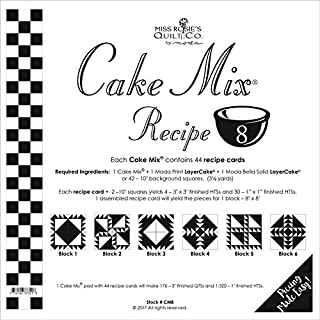 Moda Cake Mix Recipe #8 ~44 recipe cards will make 176 3
