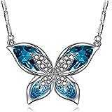 Collana Donna, con Cristallo Blu di Swarovski, Gioielli Donna, Regalo Donna, regalo san valentino