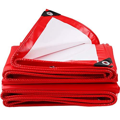 QHGao waterdichte pvc-doek, zware zonwering, regendoek, stofdicht, dik, slijtvast, waterdicht zeil, luifeldoek, isolatiedoek, auto-zonwering