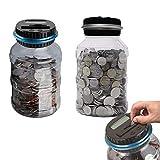 CULER 2.5l Hucha Contador de Monedas electrónica Digital LCD para Contar Monedas para Ahorrar Dinero de la Caja del Tarro Monedas Caja para el USD Dinero Color al Azar