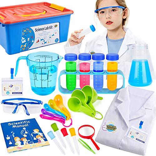 Tacobear Juegos Experimentos para Nios Ciencia Experimentos Kit con Qumica Juguete Bata de Laboratorio Disfraz de Cientfico Juego de rol Regalo para nios