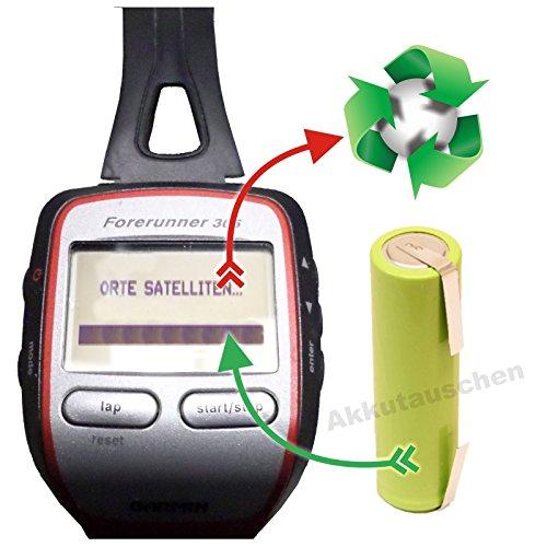 akkutauschen.de Premium-Akkutauschservice/Akkuwechsel kompatibel u.a. mit Laufuhr/GPS -Uhren der Marke Garmin Forerunner 205/305