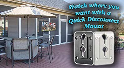 MS1066BLK Outdoor Quick Disconnect Wall Plate TV Mounts, Easy On/Off