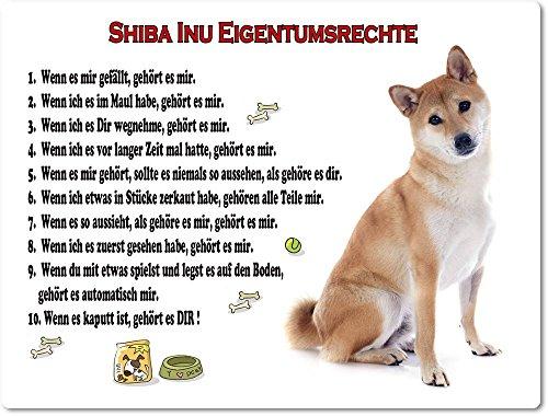 Merchandise for Fans Blechschild/Warnschild/Türschild - Aluminium - 15x20cm Eigentumsrechte Motiv: Shiba Inu (01)