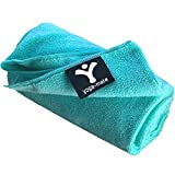The Perfect Yoga Towel - Super Soft, Sweat Absorbent, Non-Slip Bikram Hot Yoga Towels | Perfect Size for Mat - Ideal for Hot Yoga & Pilates! (Teal)