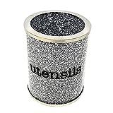 YiGanQiang Utensili diamantati schiacciati, Supporto di Utensili in Argento Utensili in Cristallo Pot Vaso da Cucina (Color : A)