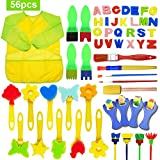 SPECOOL 56Pcs éponges de Peinture pour Enfants, DIY Art & Craft, Brosses de Peinture...