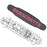 San Qing Skateboard Longboard Freestyle Set da Ballo Femminile Set Cruiser Full Body Professionale...