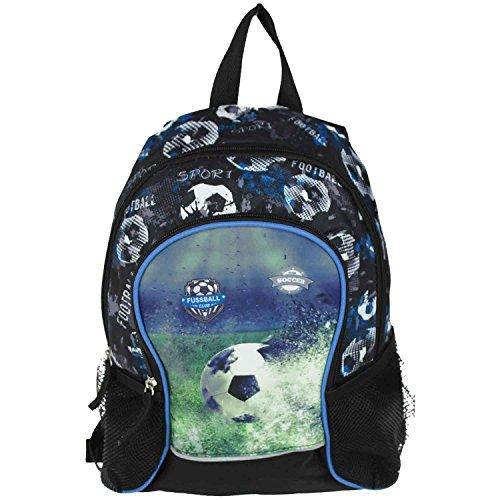 Set Kinderrucksack und ein Plüsch Delfin als Begleiter Kindergartenrucksack Lizenz Rucksäcke verschiedene Motive wählbar - Kindergarten oder Kita (Fussball)