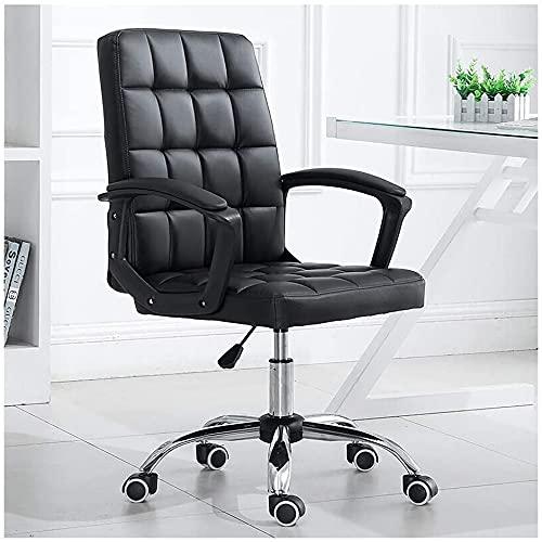 JYHZ Stühle, Home Office Stühle mit Armlehnen, Lederstühle Computer Büro, Personal Stühle, ergonomische Dreh- und Hebe Leder Stühle, Startseite Freizeitspiel Stühle (Size : White)