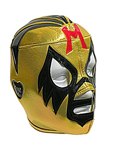 SIPWELL MIL MASCARAS Adult Lucha Libre Wrestling Mask (pro-fit) Costume Wear - Yellow