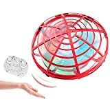 Mini Helicopter UFO RC Drone Infraed Hand Sensing Aircraft Electronic Model Quadcopter flayaball Small drohne Toys for Children,Red
