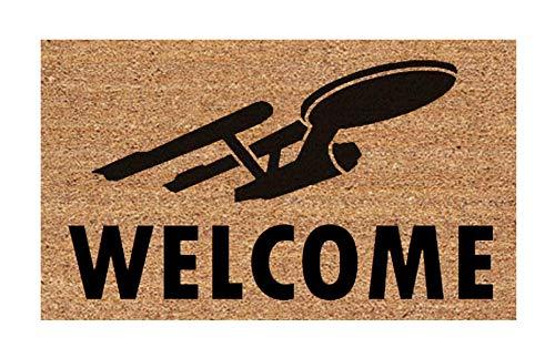 Star Trek Welcome Doormat! USS Enterprise- Easy Clean Door Mat New House - Wedding Bridal Shower Funny Fun Gift