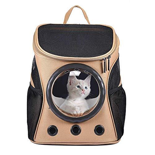 WXQY Tragbare Haustier-Tasche, Atmungsaktiver Haustier-Rucksack-Segeltuch-Raumkapsel-Hundebeutel-Rucksack Atmungsaktivem Ineinander Greifen-Fenster