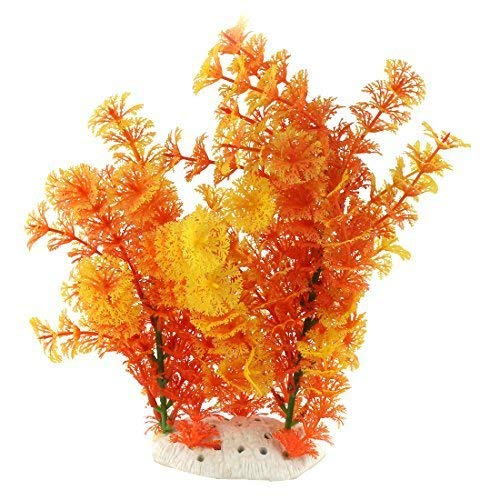 Chenbz Kunststoff Aquarium Artificial Künstliche Emulational Gras Aquarium Pflanze Baum Dekor Tricolor