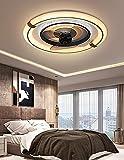 MYYINGBIN Ventilador De Techo con Luz Y Mando a Distancia Silencioso Plafon Ventilador Techo Regulable Ventilador Techo Luz Led 3 Velocidades Lámparas De Habitación Techo Salon Dormitorio Comedor