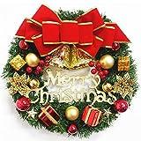 CROSYO 1 unid Guirnalda arreglo Navidad Ornamento Navidad Corona Decorativa Decorativa 30 cm Arco decoración de la Navidad Decoracion hogar (Color : A)
