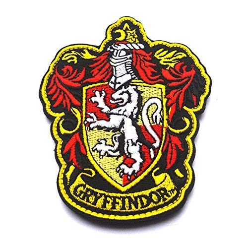 Oyster-Patch Harry Potter Hogwarts House of Gryffindor/Hufflepuff/Ravenclaw/Slytherin Tactical Patch Hook & Loop, Gryffindor