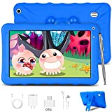 Kids Tablet, Android 9.0 GO Kids Learning Tablets 9 inch IPS HD Eye Protaction Display, 3GB RAM & 32GB ROM for Home School Education - Google Certified Pre-Loaded Children Educational Apps (Blue)