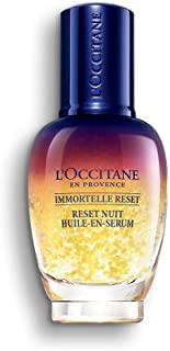 L'Occitane Immortelle Overnight Reset Oil-in-Serum for a More Youthful and Rested Complexion, 1 Fl Oz