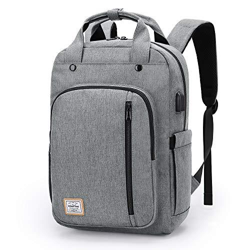 WindTook USB Anschluss Laptop Rucksack Damen Daypack Schulrucksack für 15 Zoll Notebook, Wasserabweisend, Weiß