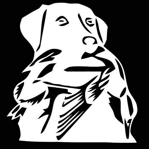 WEILONG 13,6 cm * 14,6 cm Duck Hunt Labrador Perro Pegatinas de...