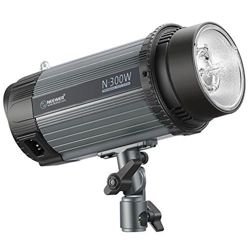 Neewer 300W 5600K Foto Studio Strobe Blitzlicht Monolight mit Modellierlampe, Aluminiumlegierung Professional Speedlite für Indoor Studio Location Modell Fotografie(N-300W)