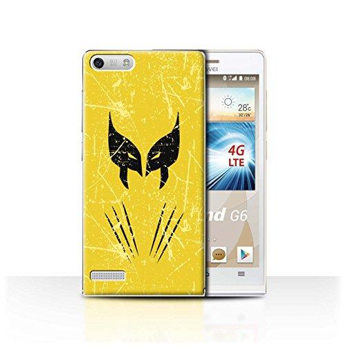 Hülle Für Huawei Ascend G6 4G Antiheld Comic-Kunst Wolverine Inspiriert Design Transparent Ultra Dünn Klar Hart Schutz Handyhülle Case