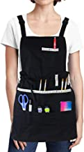 FreeNFond Adjustable Artist Apron with Pockets for Women Men Unisex Adults Canvas..