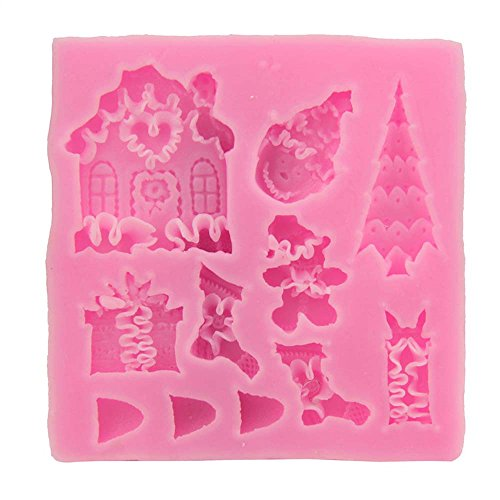 Haotfire 3D Xmas Silicone Mold Cake Mould Christmas Silicone Cookie Chocolate Baking Mold, Christmas...