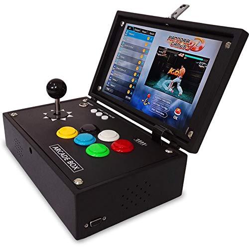 YBCN Arcade Portable à la Maison Mini rétro Jeu de Combat à Bascule Machine nostalgique écran LCD 10 Pouces Flip 2448 Jeux Support poignée USB et Carte mémoire TF