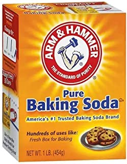 Arm & Hammer Pure Baking Soda 1 Pound (16 Ounces) Each, Pack of 5