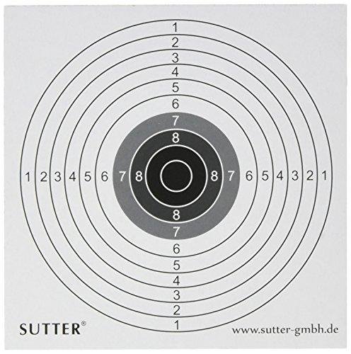 SUTTER Zielscheiben T1 14x14cm - 100er Pack