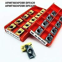 旋削チップ APMT1604 APMT1135PDER RPMW1003MO DP5320 DP5420高品質の炭化物インサートAPMT CNC旋盤部品ツールフライス挿入物RPMW (Angle : 10PCS, Insert Width(mm) : RPMW1003MO DP5320)