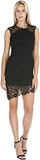 Womens Asymmetrical Lace Dress w/Diagonal Hem