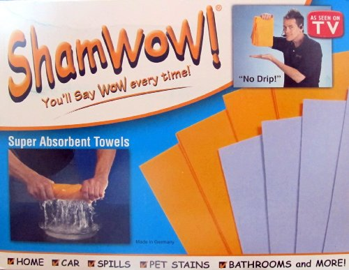 Fitness Quest Inc 19800-2M 8-Count ShamWow Towels (AS SEEN ON TV)