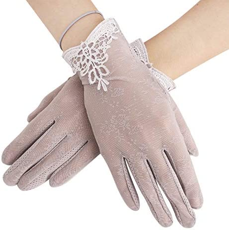 JINTN Women Anti UV Nonslip Driving Gloves Touch Screen Gloves Elegant Opera Lace Gloves Outdoor product image