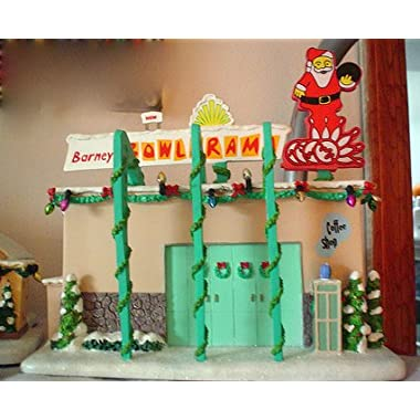 HAWTHORNE THE SIMPSONS CHRISTMAS VILLAGE  Barney's Bowl-a-Rama