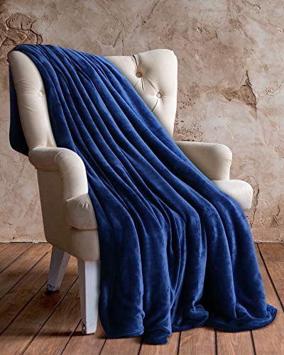 Utopia Bedding Vellón Manta Azul Marino