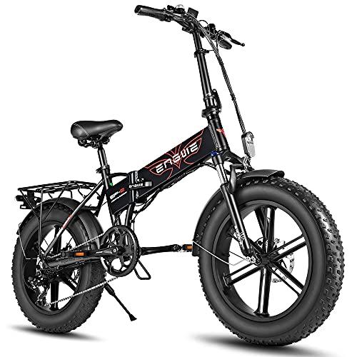 Fafrees E-Bike 750W Fat Tire Mountainbike 20 Zoll E Bike Fettreifen 12.8AH Faltbar Ebike 150kg Elektrische Fahrrad, Elektrofahrrad Erwachsener Strand Schnee Mountain Pedelec für Damen und Herren