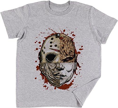 Vendax Horror TRITURAR Niños Chicos Chicas Unisexo Camiseta Gris