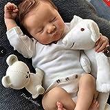 50Cm Realista Saskia Muñeca Renacida 20 Pulgadas Dormido Silicona Completa Muñecas Recién Nacidas, Ligero, Lavable Reborn Doll Juguetes para Niños