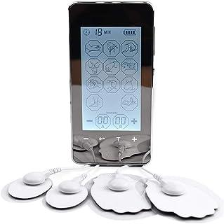 Masajeador electrónico de músculos, máquina digital TENS de doble canal para un alivio del dolor eficaz rápido y preciso Ideal para uso en el hogar
