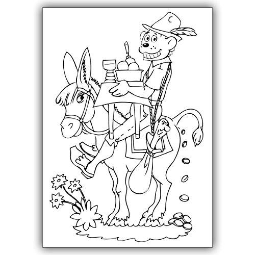 Wenskaarten met hoeveelheidskorting: Kinderen uitmal knutselkaart met draak Dinolino in sprookje tafellein dek Dich • mooie groet vouwkaart met envelop voor beste vrienden en lievelingsmensen. 16 Grußkarten