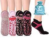 Muezna Non Slip Yoga Socks for Women, Anti-Skid Pilates, Barre,...