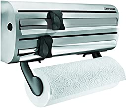 Leifheit Wall-Mounted Paper Towel, Foil, and Plastic Wrap Dispenser
