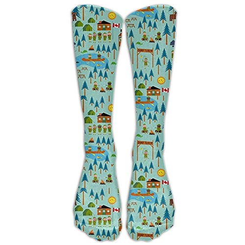 Boy Scouts Camp TurtleKnee High Athletic Socks Comfortable Knee High Graduated Compression Socks for Women and Men