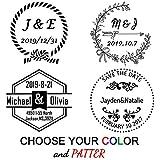 Personalisierte Stempel Hochzeit,Individueller Stempel,Rund,Durchmesser 40 mm,Rund Stempel für Hochzeit, Einweihungsparty, Einladung Familie oder Geschenk